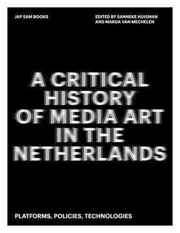 "Cover for ""A Critical History of Media Art in the Netherlands"""