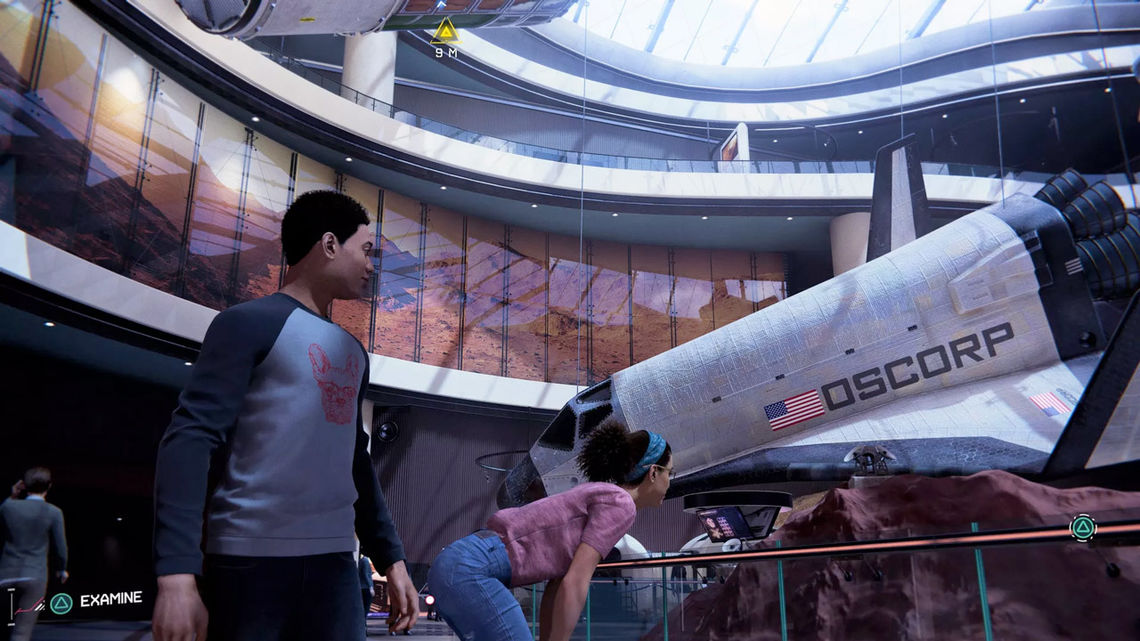 "Science museum in the ""Spider-Man: Miles Morales"" video game"